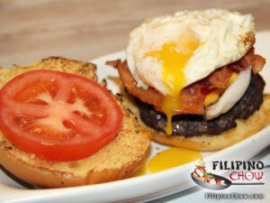 Picture of Bacon Cheese Burger with Fried egg