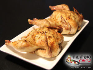Garlic Herb Roasted Cornish Hens (Lechon Manok)