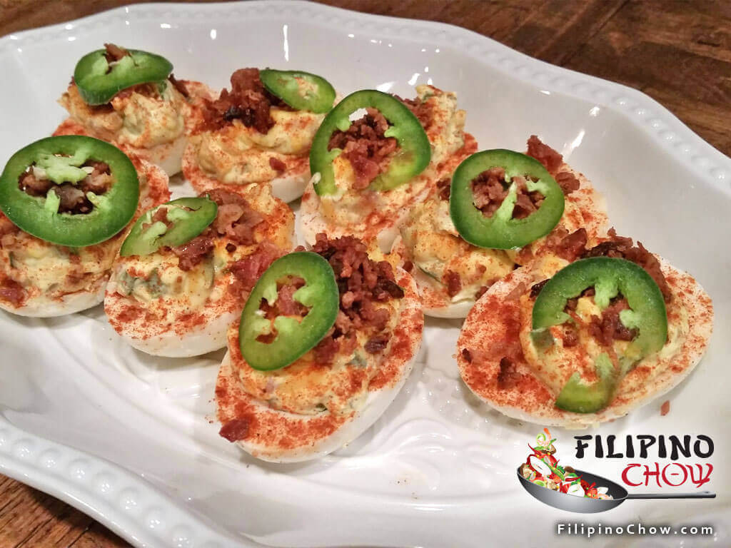 Picture of Jalapeno Cheddar Bacon Deviled Eggs Image
