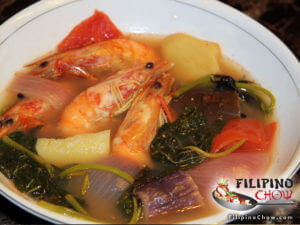 Picture of Sinigang Na Hipon (Shrimp in Sour Soup)