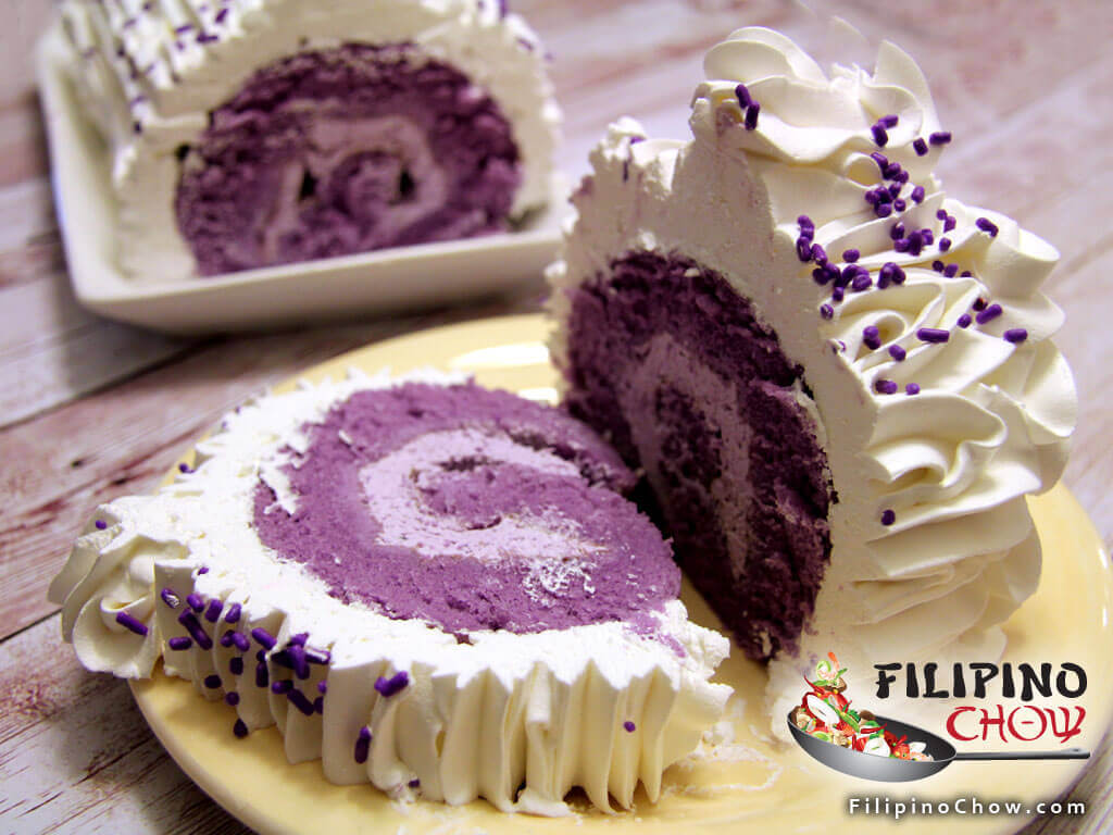 Ube Roll Cake Filipino Chow S Philippine Food And Recipes