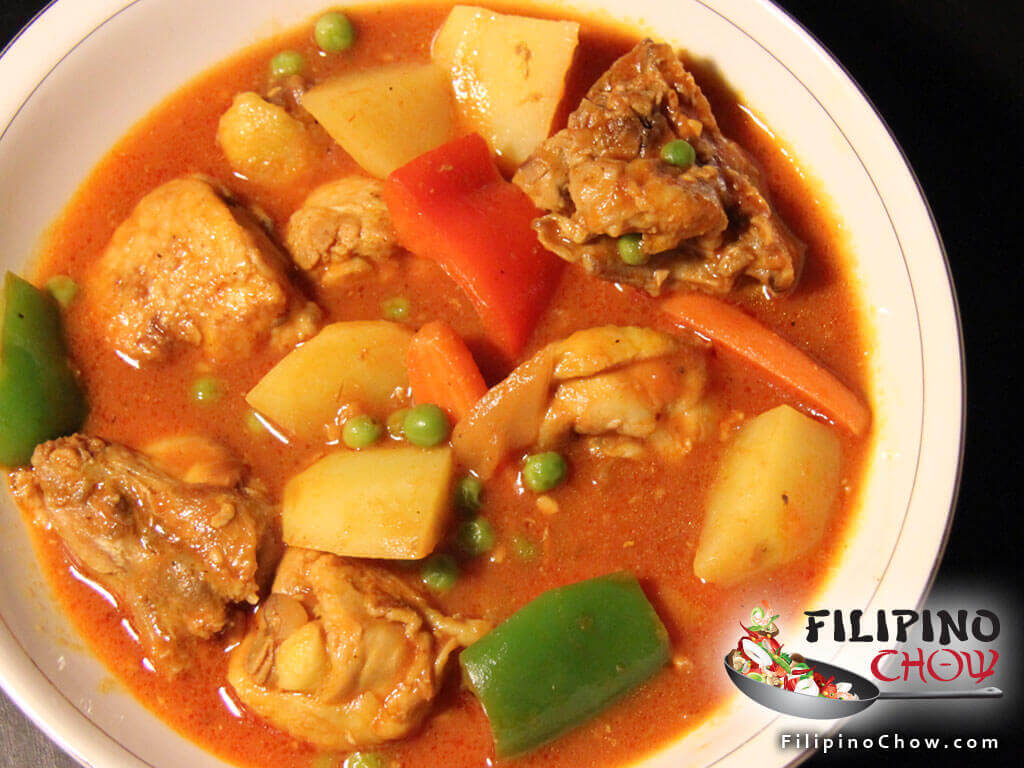 Image of Picture of Afritadang Manok (Braised Chicken in Tomato Sauce)