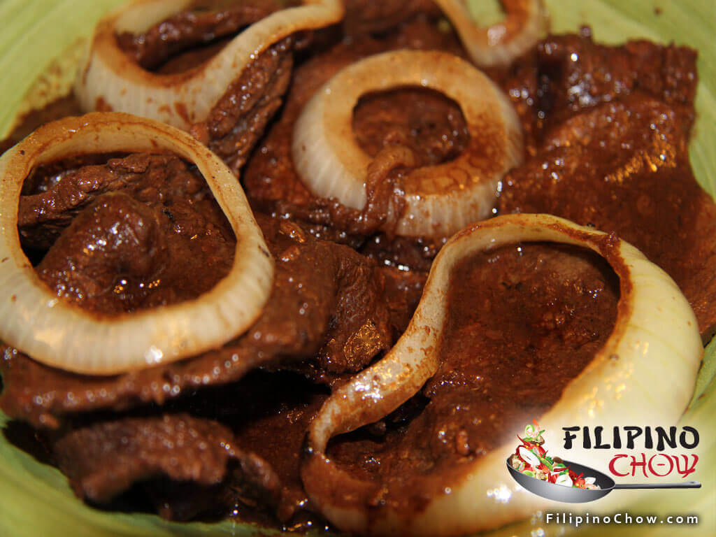 Beef Steak Bistek Tagalog Filipino Chow S Philippine Food And Asian Recipes To Learn How