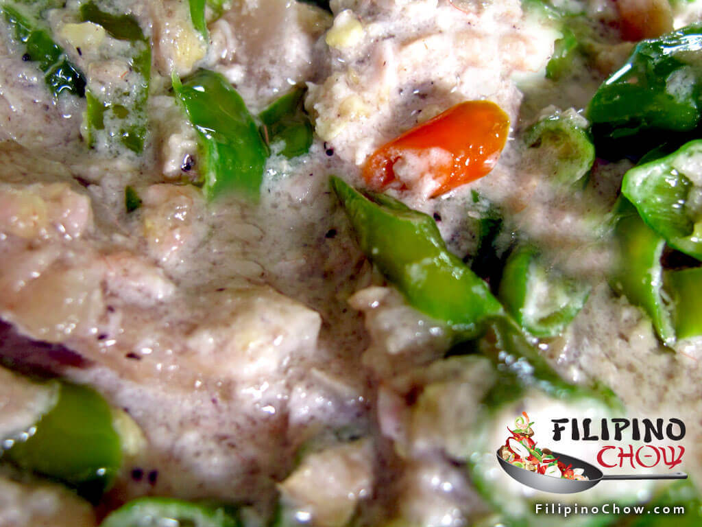 Image of Picture of Bicol Express (Chili and Pork in Coconut Gravy)