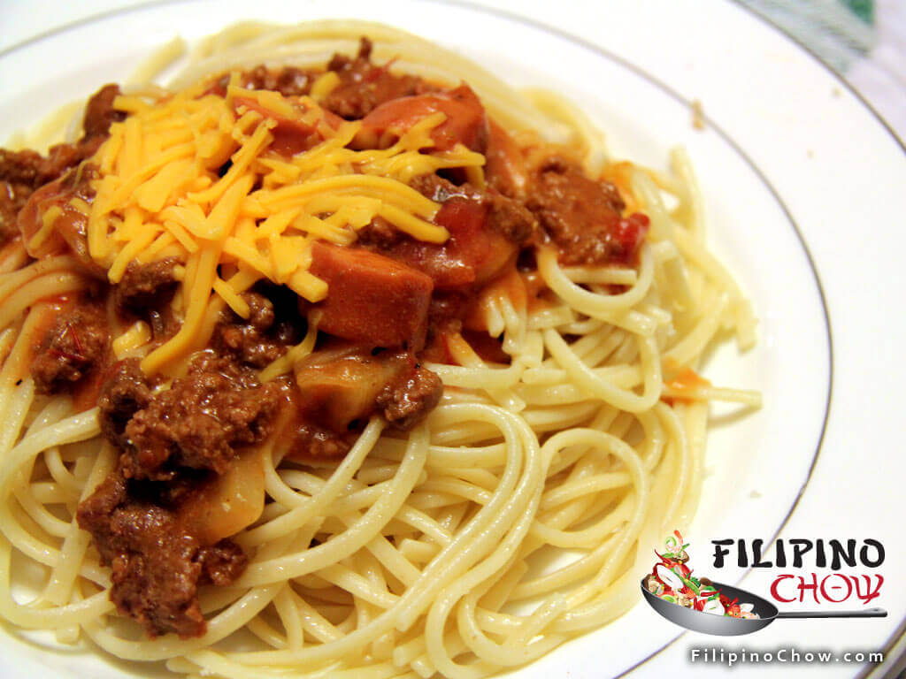 Image of Picture of Filipino Spaghetti with Meat Sauce