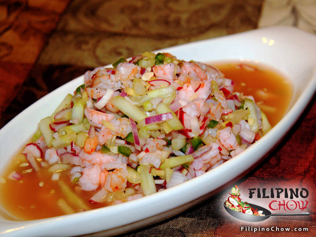 Image of Picture of Kilawing na Hipon (Spicy Shrimp Ceviche)