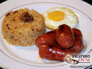 Picture of Longsilog (Sausage with Garlic Rice and Fried Egg)