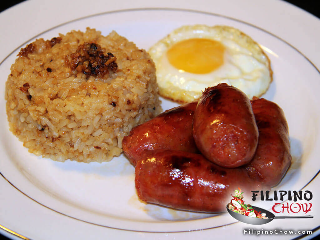 Image of Picture of Longsilog (Sausage with Garlic Rice and Fried Egg)