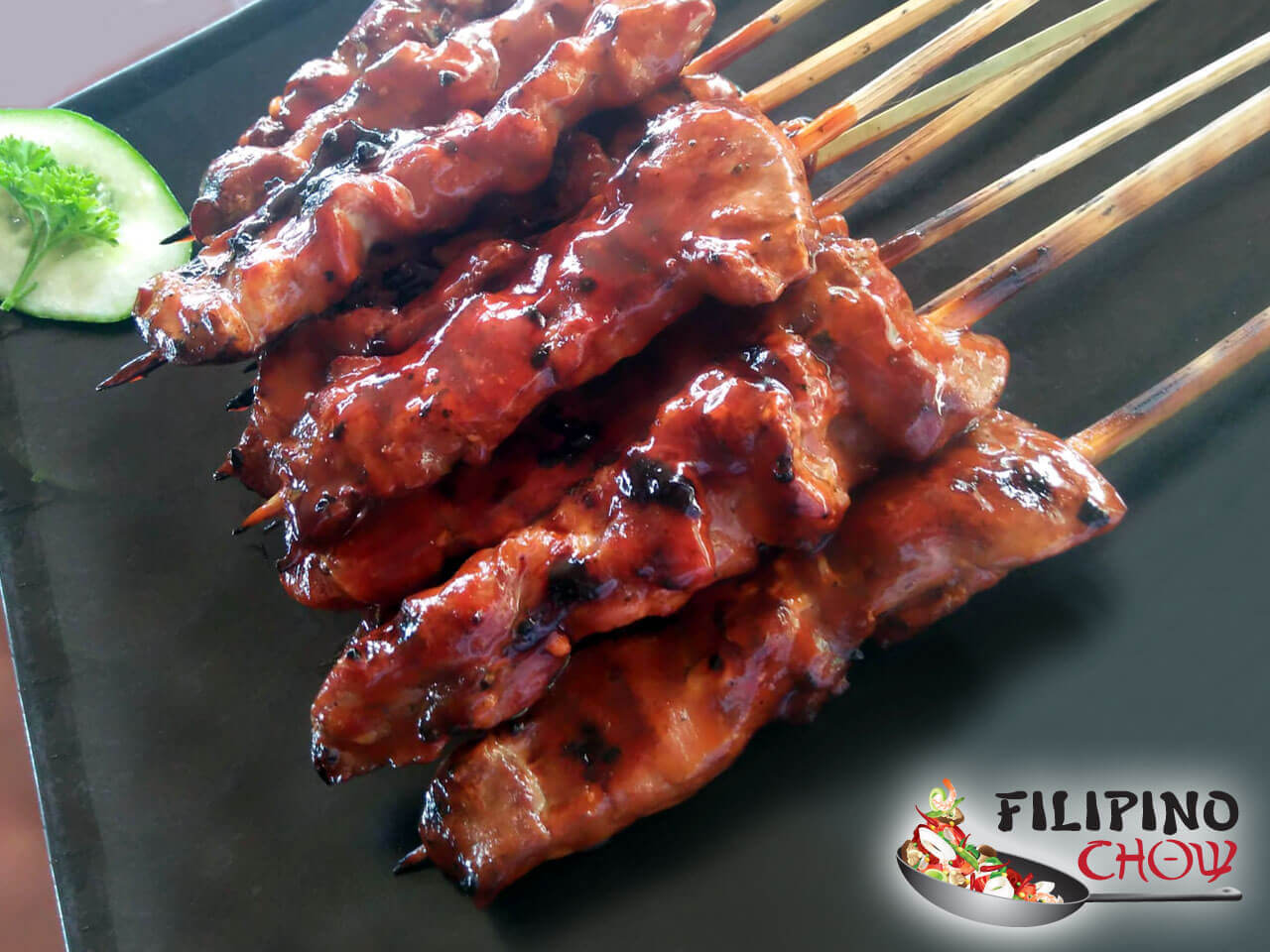 Image of Picture of Filipino Barbeque Pork Skewers