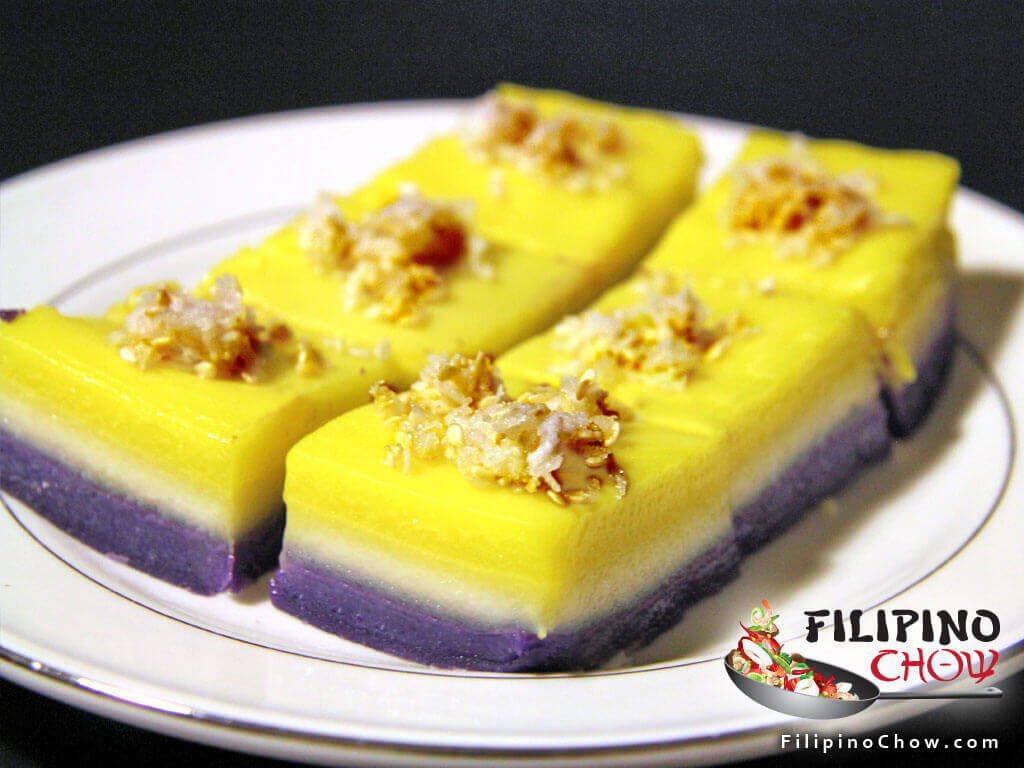 Image of Picture of Sapin-Sapin (Steamed Coconut Layer Pudding)