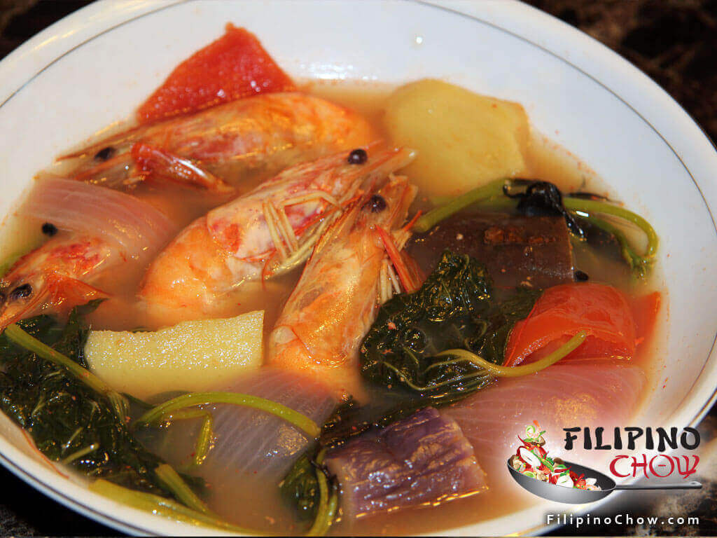 Image of Picture of Sinigang Na Hipon (Shrimp in Sour Soup)