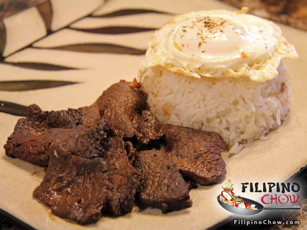 Image of Picture of Tapsilog (Beef Tapa with Garlic Fried Rice and Fried Egg)