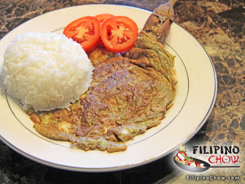 Image of Picture of Tortang Talong (Eggplant Omelet)