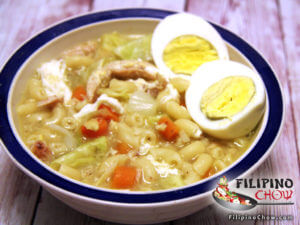 Picture of chicken sopas chicken macaroni soup