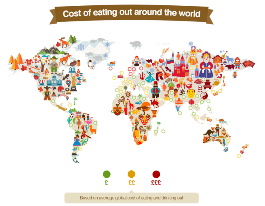 Image of Explore the Cost of Eating Out Around the World In This Interactive Map