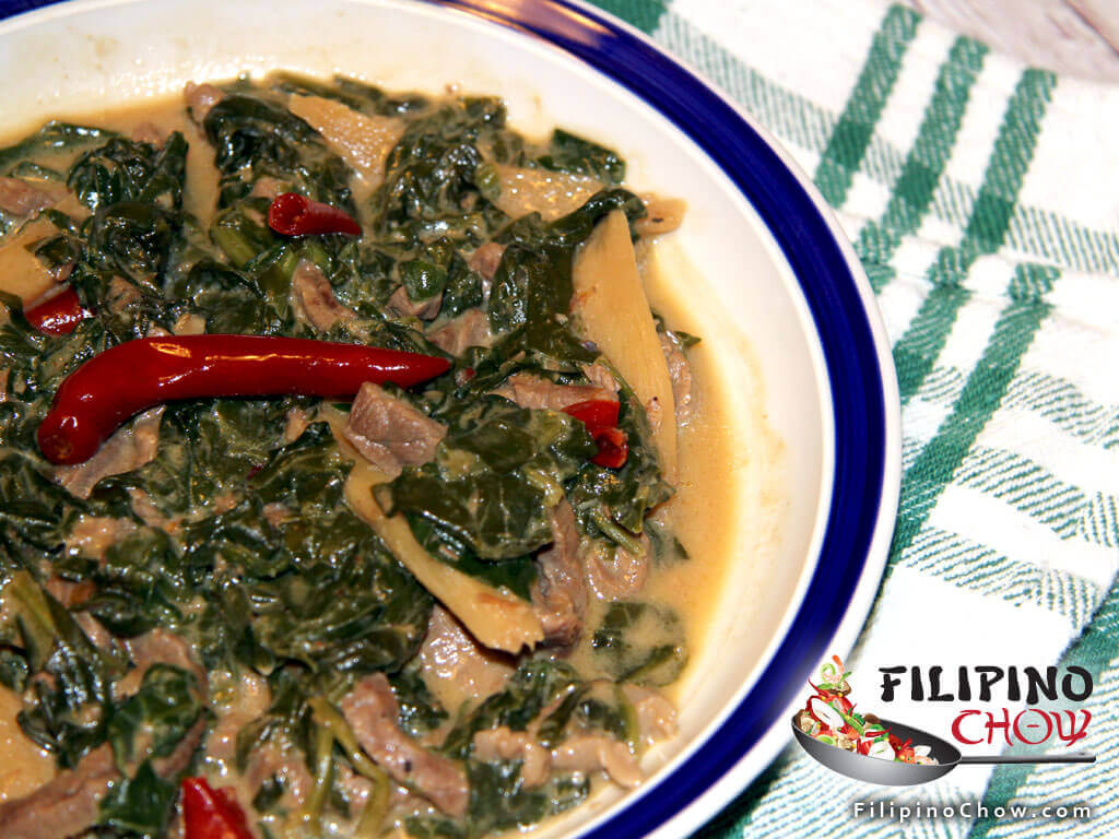 Spinach Laing Filipino Chow S Philippine Food And Asian Recipes To Learn How